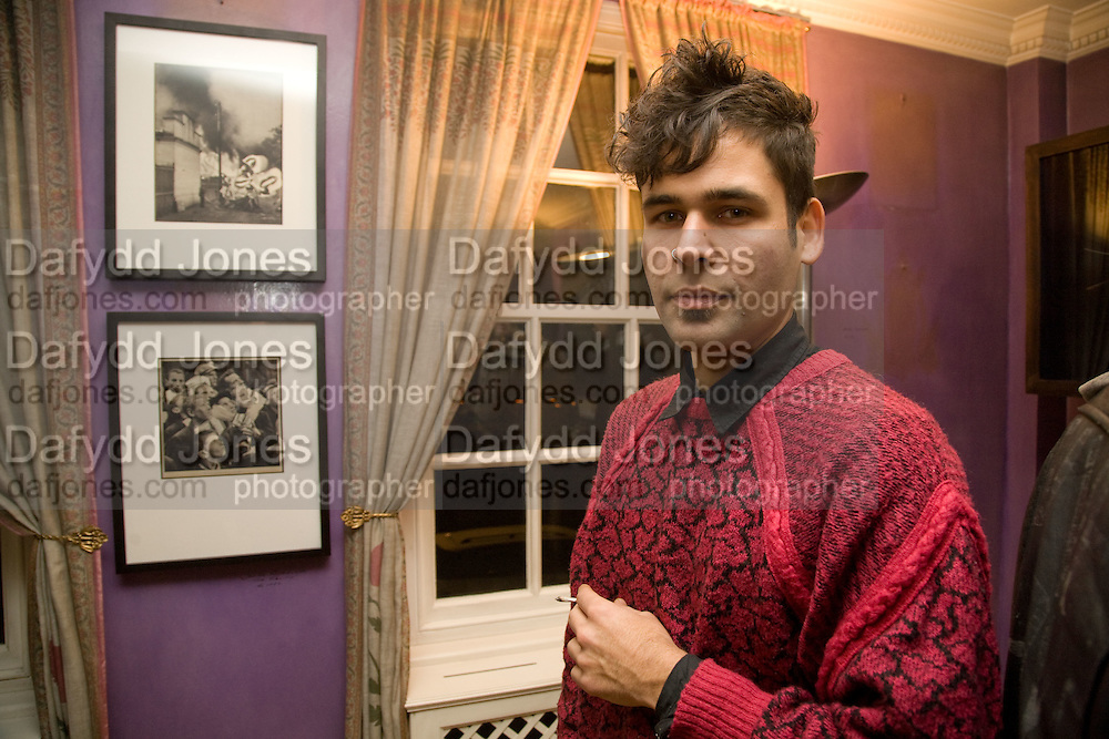 JAVIER RODRIGUES, Come and Check My Gaff. Mixed exhibition in an empty house in Chelsea. I Petyt Place. London. 16 December 2008. Exhibition on until 21 December.  *** Local Caption *** -DO NOT ARCHIVE-© Copyright Photograph by Dafydd Jones. 248 Clapham Rd. London SW9 0PZ. Tel 0207 820 0771. www.dafjones.com.<br /> JAVIER RODRIGUES, Come and Check My Gaff. Mixed exhibition in an empty house in Chelsea. I Petyt Place. London. 16 December 2008. Exhibition on until 21 December.