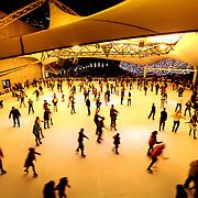 Crown Center Ice Terrace skating rink on night of 2014 Mayor's Christmas Tree Lighting, Kansas City, Missouri.