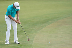 June 16, 2018 - Southampton, NY, USA - Justin Rose putting on the 16th green during the third round of the 2018 U.S. Open at Shinnecock Hills Country Club in Southampton, N.Y., on Saturday, June 16, 2018. (Credit Image: © Brian Ciancio/TNS via ZUMA Wire)