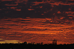 © Licensed to London News Pictures. 04/05/2013. A Red sky tonight, 04.05.2013, across Orpington and Bromley in South East London. Photo credit :Grant Falvey/LNP