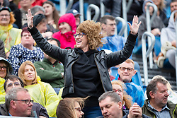 The Proclaimers at Edinburgh Castle 21 July 2019; The Proclaimers play their home town with a live show at Edinburgh Castle. A fan enjoying The Proclaimers live show.<br /> <br /> (c) Chris McCluskie   Edinburgh Elite media