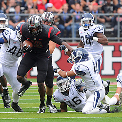 Oct 6, 2012: Rutgers Scarlet Knights wide receiver Jeremy Deering (18) returns the opening kickoff of the second half of NCAA college football action between the Rutgers Scarlet Knights and UConn Huskies at High Point Solutions Stadium in Piscataway, N.J.