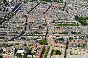 Nederland, Noord-Holland, Amsterdam, 29-06-2018; Amsterdam-Zuid, Nieuwe Pijp en Oude Pijp, met onder andere Ferdinand Bolstraat.<br /> Southern part of Amsterdam.<br /> <br /> luchtfoto (toeslag op standard tarieven);<br /> aerial photo (additional fee required);<br /> copyright foto/photo Siebe Swart