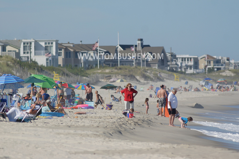 Beach Haven, NJ - People relax on the beach at Long Beach Island on July 12, 2007.