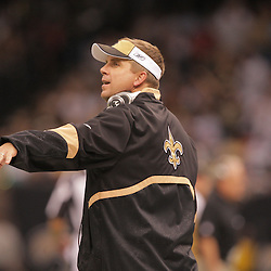 2008 October, 06: New Orleans Saints Head Coach Sean Payton during a week five regular season game between the Minnesota Vikings and the New Orleans Saints for Monday Night Football at the Louisiana Superdome in New Orleans, LA.