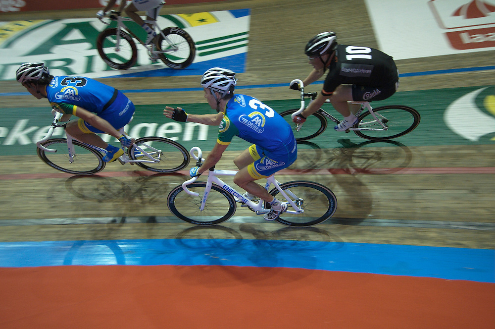 Six Day track racing at Gent, Belgium. November 2010