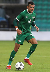 Republic of Ireland's Tyreik Wright in action during the UEFA Under-21 Championship Qualifying Round Group F match at the Tallaght Stadium, Dublin. Picture date: Friday October 8, 2021.