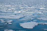 Melting winter ice sheet, Svalbard, Spitzbergen, Arctic Norway