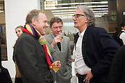 SIMON MILLS; ALEX BILMES; SIR PAUL SMITH, Editor of Wallpaper: Tony Chambers and architect Annabelle Selldorf host drinks to celebrate the collaboration between the architect and three of Savile Row's finest: Hardy Amies, Spencer hart and Richard James. Hauser and Wirth Gallery. ( Current show Isa Genzken. ) savile Row. London. 9 January 2012.
