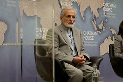 July 19, 2017 - London, United Kingdom - Dr Kamal Kharazi, former Iranian minister of foreign affairs, speaking at Chatham House. (Credit Image: © Dominic Dudley/Pacific Press via ZUMA Wire)