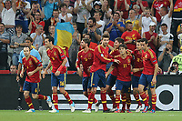 FOOTBALL - UEFA EURO 2012 - DONETSK - UKRAINE  - 1/4 FINAL - SPAIN v FRANCE - 23/06/2012 - PHOTO PHILIPPE LAURENSON /  DPPI - JOY XABI ALONSO (ESP) AFTER HIS GOAL