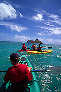 Kayaking, Lanikai, Oahu, Hawaii, USA<br />