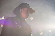 The Undertaker walks to the ring for a Hell in a Cell match against Shane McMahon during WrestleMania on April 3, 2016 in Arlington, Texas.