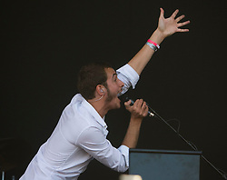 Tom Smith of the The Editors play the main stage. Rockness, Sunday 8th June 2008..Pic © Michael Schofield. All Rights Reserved.