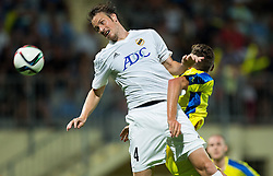 Piasentin Lucas of FK Cukaricki during 1st Leg football match between NK Domzale (SLO) na FC Cukaricki (SRB) in 1st Round of Europe League 2015/2016 Qualifications, on July 2, 2015 in Sports park Domzale,  Slovenia. Photo by Vid Ponikvar / Sportida