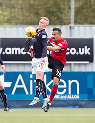 Falkirk's Craig Sibbald and Dunfermline's Farid El Alagui. Falkirk 2 v 1 Dunfermline, Scottish Championship game played 15/10/2016, at The Falkirk Stadium.