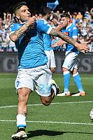 esultanza gol Lorenzo Insigne Napoli Goal Celebration <br /> Napoli 10-04-2016 Stadio San Paolo<br /> Football Calcio Serie A 2015/2016 Napoli - Hellas Verona<br /> Foto Antonello Sammarco / Image Sport / Insidefoto