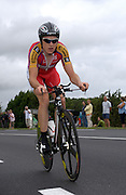 Barloworld's Geraint Thomas during the final time trial of the 2007 Tour de France.