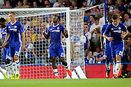 Chelsea striker Michy Batshuayi (23) scores a goal 3-1 during the EFL Cup match between Chelsea and Bristol Rovers at Stamford Bridge, London, England on 23 August 2016. Photo by Matthew Redman.