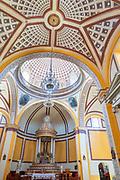 Interior of the Parroquia Santa María Magdalena church in Xico, Veracruz, Mexico.