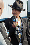 3 September 2011- New York, NY-  Erykah Badu backstage at the 11th Annual Rock The Bells Concert Series held on Governors Island on September 3, 2011 in New York City. Photo Credit: Terrence Jennings