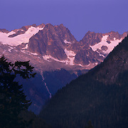 Cascade Pass high up in the Cascade Range in North Cascades National Park, WA.