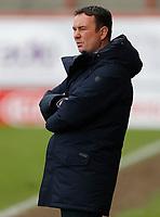 Football - 2020 / 2021 Sky Bet League Two - Morecambe vs. Bradford City<br /> <br /> Morecambe manager Derek Adams, at the Mazuma Stadium.<br /> <br /> COLORSPORT/ALAN MARTIN