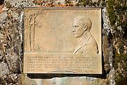 Memorial to Stephen Mather at the Longmire Ranger Station, Mount Rainier National Park, Washington