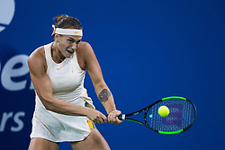 September 1, 2018 - Flushing Meadow, NY, U.S. - FLUSHING MEADOW, NY - SEPTEMBER 01: ARYNA SABALENKA (BLR) day six of the 2018 US Open on September 01, 2018, at Billie Jean King National Tennis Center in Flushing Meadow, NY. (Photo by Chaz Niell/Icon Sportswire) (Credit Image: © Chaz Niell/Icon SMI via ZUMA Press)