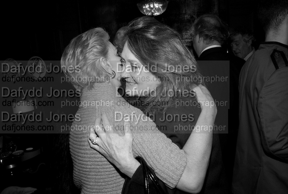 CAROLINA HERRERA ; LEONORA COUNTESS OF LICHFIELD, Graydon and Anna Carter host a lunch for Carolina Herrera to celebrate the ipening of her new shop on Mount St. .The Connaught. London. 20 January 2010