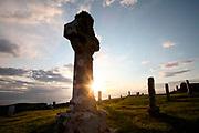 Cruz celta en Trumpan. Isla de Skye. Scotland.