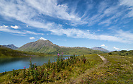 Lost Lake (Trail) and the Kenai Mountains in Southcentral Alaska. Summer. Afternoon.