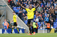 Burton Albion midfielder Lloyd Dyer (11) scores a goal 1-0 and celebrates during the EFL Sky Bet Championship match between Birmingham City and Burton Albion at St Andrews, Birmingham, England on 17 April 2017. Photo by Richard Holmes.