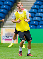 05/08/14  <br /> CELTIC TRAINING <br /> BT MURRAYFIELD STADIUM - EDINBURGH<br /> Celtic's Stefan Johansen