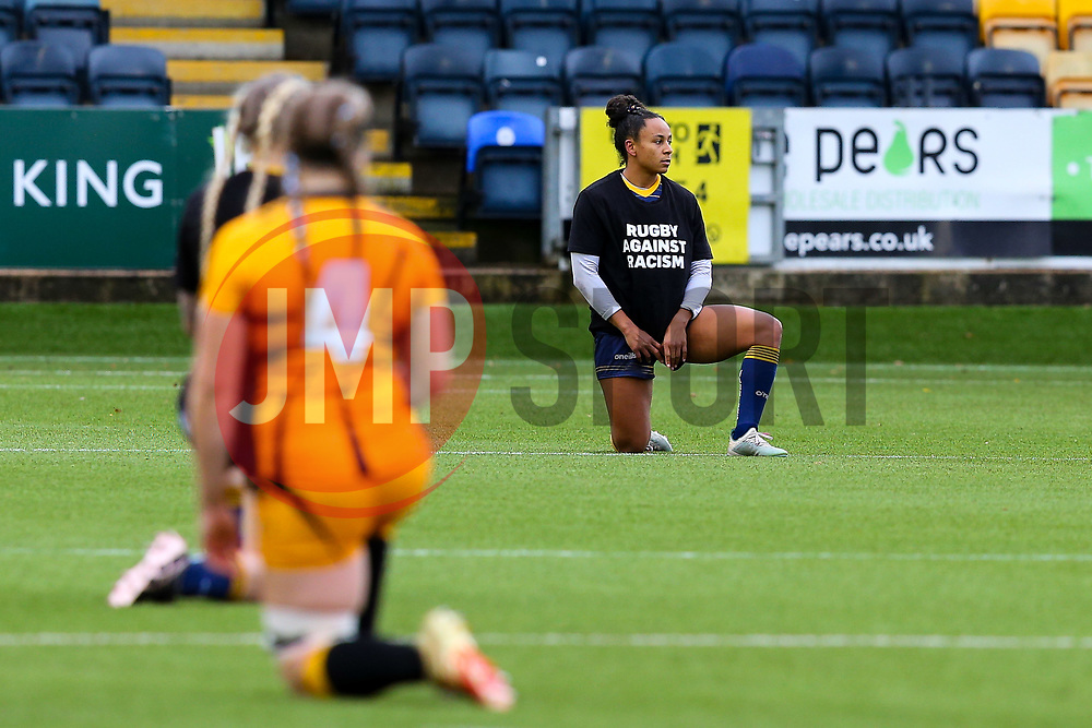 A period of silence is observed - Mandatory by-line: Nick Browning/JMP - 24/10/2020 - RUGBY - Sixways Stadium - Worcester, England - Worcester Warriors Women v Wasps FC Ladies - Allianz Premier 15s