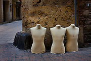Group of Tailor's dummies on the street in Perpignan France