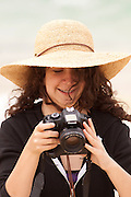 Taking photos during a tour on Floreana Island, Galapagos Archipelago - Ecuador. (fully released - 82010EXsP)