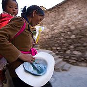Local Tibetan Village people.