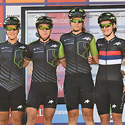 Cylance Pro Cycling (USA) photocall at Prudential RideLondon Classique at the Mall on 28 July 2018, London, UK