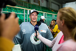 Paavo Hölsä of HK SZ Olimpija during First ice practice session of HK SZ Olimpija 2020 team after Covid-19 restrictions on 17 August, 2020 in Hala Tivoli, Ljubljana, Slovenia. Photo by Grega Valancic / Sportida