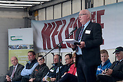 Michael Diskin, Teagasc Sheep Enterprise Leader  speaking at 'SHEEP2015', the major National the Sheep Open Day hosted by Teagasc at Athenry on Saturday. Photo:- Andrew Downes / xposure.ie  No Fee. Issued on behalf of Teagasc