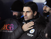Football - 2019 / 2020 EFL Carabao (League) Cup - Quarter-Final: Oxford United vs. Manchester City<br /> <br /> Man City coach, Mikel Arteta, at Kassam Stadium<br /> <br /> COLORSPORT/ANDREW COWIE