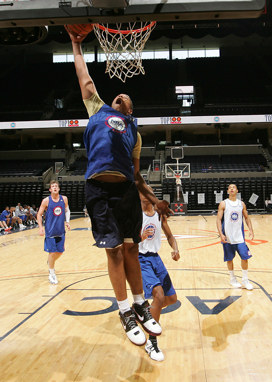 Jared Sullinger handles the ball during the 2009 NBPA Top 100 Basketball Camp held Friday June 17- 20, 2009 in Charlottesville, VA. Photo/ Andrew Shurtleff