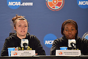 April 3, 2016; Indianapolis, Ind.; Jenna Buchanan addresses the media during their press conference at Bankers Life Fieldhouse.