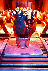Stock photo of an oil drilling bit being heated