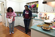 Mayukh Datta eats a home cooked meal before he prepares to return to college after Christmas break. He is at home in Kosciusko, Mississippi where he has grown up. Mayukh will soon be aging out of dependency, which could affect his Visa status. Photo by Karen Pulfer Focht
