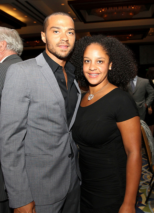 """ATLANTA, GA - MAY 14:  """"Grey's Anatomy"""" star Jesse Williams and a guest attend the MLB Beacon Awards Banquet at the Omni Hotel on May 14, 2011 in Atlanta, Georgia.  (Photo by Mike Zarrilli/Getty Images)"""