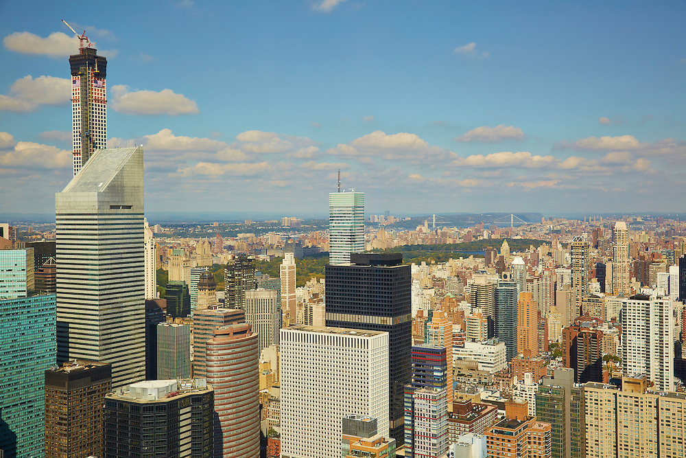 View northwest from 845 United Nations Plaza, 86th floor