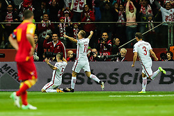 October 8, 2017 - Warsaw, Poland - Krzysztof Maczynski (POL) celebrates a goal during Poland and Montenegro World Cup 2018 qualifier match in Warsaw, Poland, on 8 October 2017. POLAND won 4-2 and take on their World Cup 2018 qualifier. (Credit Image: © Foto Olimpik/NurPhoto via ZUMA Press)