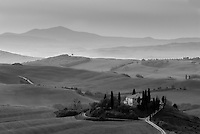 The Belvedere, Val d'Orcia, Tuscany, Italy